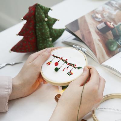 프랑스자수 DIY세트 겨울시리즈 크리스마스 (가렌더)