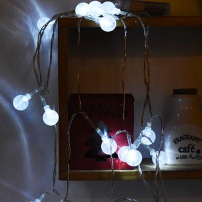LED 20P 물방울 앵두 건전지(밧데리) [백색]