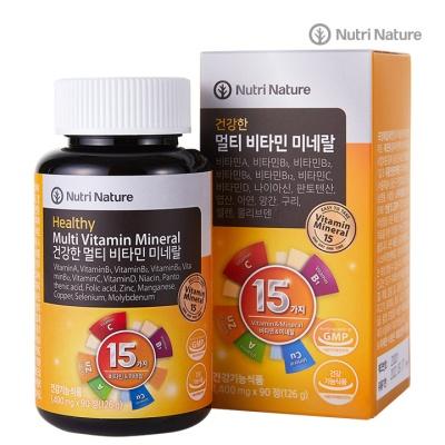 뉴트리네이처 건강한 멀티비타민 미네랄 1400mg x90정