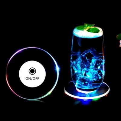 2+1 LED 컵받침 아크릴 조명코스터 소주 맥주 잔받침