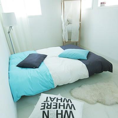 Cozy tri-color 챠콜그레이 블루민트 침구 [패딩SS-A]