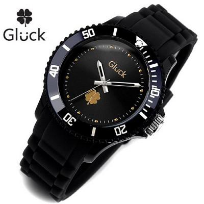 [Gluck]글륵 행운의 시계 GL1307-DTBK 본사정품 남여공용