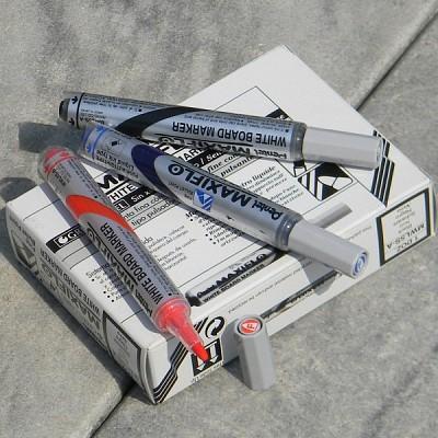 [Pentel] 잉크보충장치가 있는 생잉크 타입-일본 펜텔 MAXIFLO 화이트 보드마카 MWL5S 1다스(12개입)