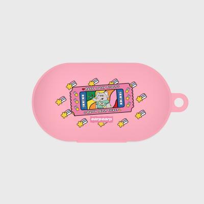 kkikki happy ticket-pink(buds jelly case)