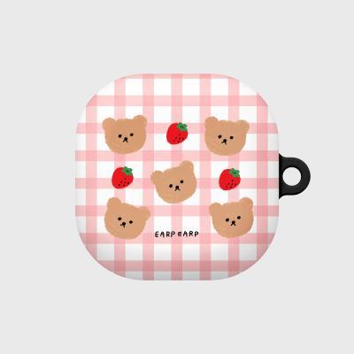 Dot strawberry check-pink(buds live hard)