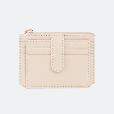 Dijon 301S Flap Card Wallet cream beige 디종 플랩 카드 월렛 크림베이지