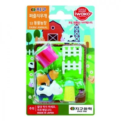 [IWAKO] 지구퍼즐지우개 53동물농장 396775