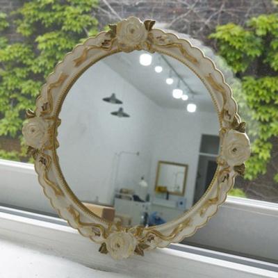 장미 디자인 원형 벽걸이거울 엔틱 인테리어소품