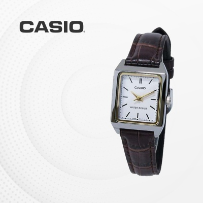 카시오 여성 가죽 빈티지 손목시계 LTP-V007L-7E2