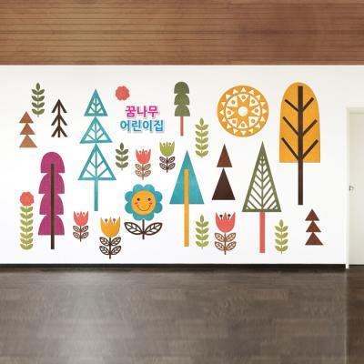 우드스티커- 자연풍경 W542 아이방 어린이집
