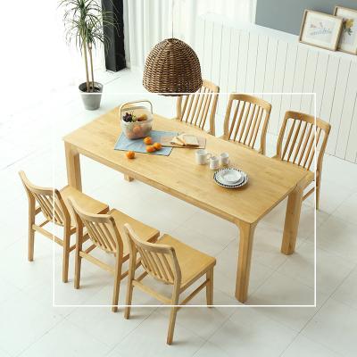 휴치 고무나무 원목 식탁 테이블 6인용 1800