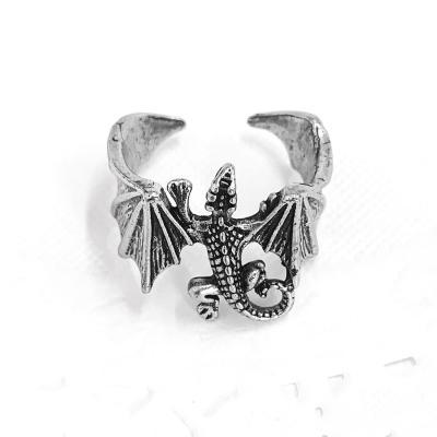 [실버문]  엔틱 실버 도마뱀 반지