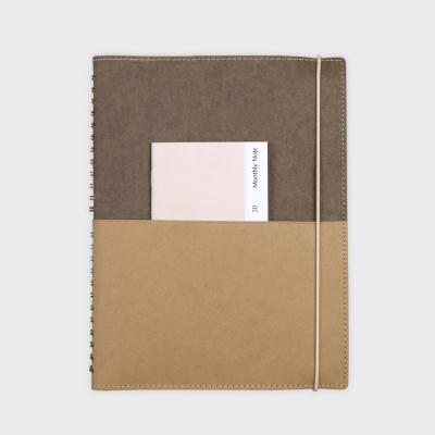 Half Diary L - Deep brown/Yellow ocher