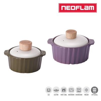 네오플램 내열냄비 뚝배기 해오름 2종 (12+16)