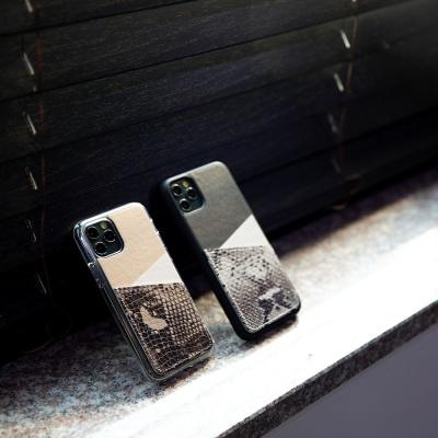 스매스 아이폰XR/XS MAX 보호 가죽 카드케이스 오원_블랙(파이톤)