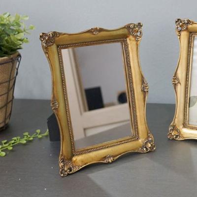 빈티지 디자인 사각 거울 탁상 벽걸이 인테리어소품