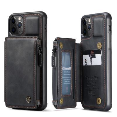 갤럭시S20 + ultra 가죽 지퍼포켓 카드지갑 폰 케이스