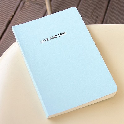 LOVE AND FREE blank note ver.02 - sky blue