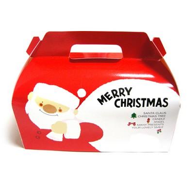 크리스마스 산타-루돌프 쿠키(조각케익)상자-소size