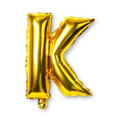 골드 알파벳 풍선-K (1개)
