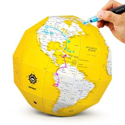재미로 DIY 지구본 - 플랜맵(옐로우)