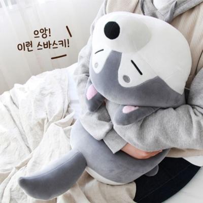 [모찌타운] 허스키 강아지 바디필로우 대형모찌인형 L