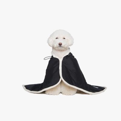 Padded cape blanket_Black