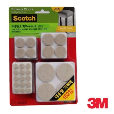 3M 스카치 마루보호 패드 원형 대용량 SP845