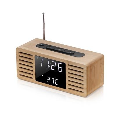 브리츠 대나무 LED라디오 시계 BZ-E2R