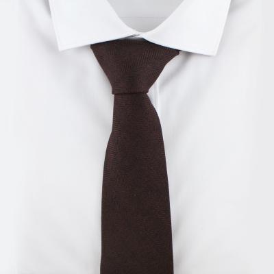 헤링본 다크브라운 넥타이 N500