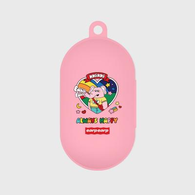 kkikki always happy-pink(buds jelly case)