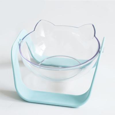 투명한 각도조절 반려동물 밥그릇 물그릇