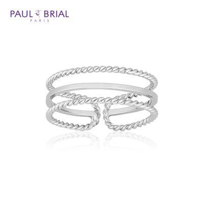 폴브리알 POBR0144 (WG) 세줄 라인 반지