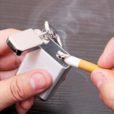 메탈 휴대용 담배 재떨이 냄새차단 쓰레기통 3color