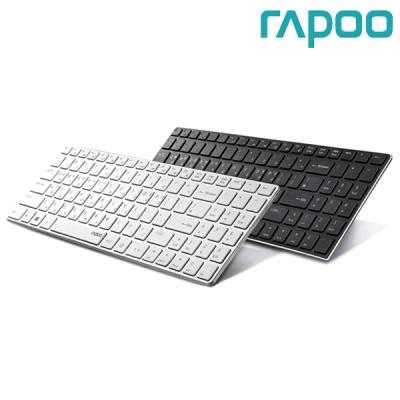 라푸 5GHz 무선 키보드 RAPOO 9100P (펜타그래프 / 4.9mm 초슬림 / 12개 멀티미디어 키 / 풀사이즈 키 / 전원 버튼)