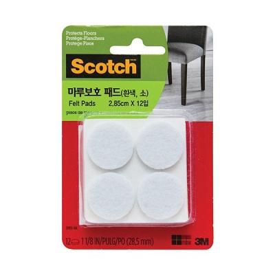 3M 소음 충격방지 마루보호 패드 원형(흰색소형)