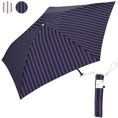 wpc우산 초경량 90g 스트라이프 미니 3단우산 AL-007
