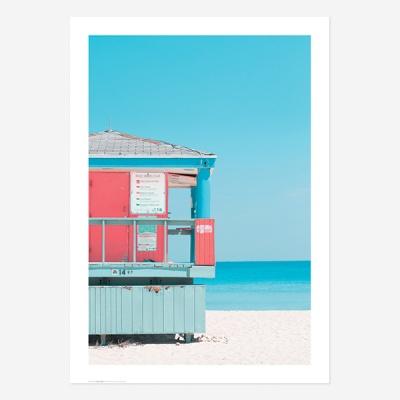 여름바다해변풍경포스터vol.1_SB03(핑크라이프가드)