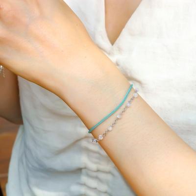 i_b33 - moon stone X rope bracelet