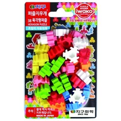 [IWAKO] 지구퍼즐지우개 38육각형퍼즐 [개/1] 354401