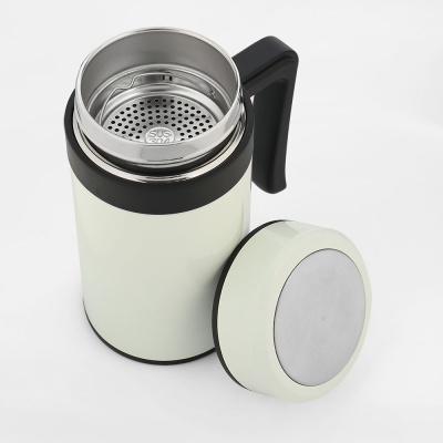 보온보냉 손잡이 텀블러(450ml) (화이트)