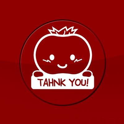 토마토 THANK YOU - 주유구스티커(280)