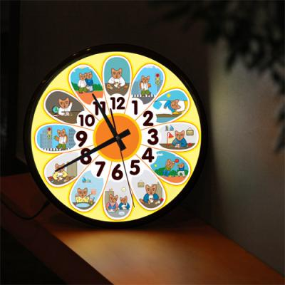 nf184-LED시계액자35R_해바라기시간표