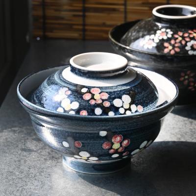 꽃기린 뚜껑 돈부리 텐동그릇