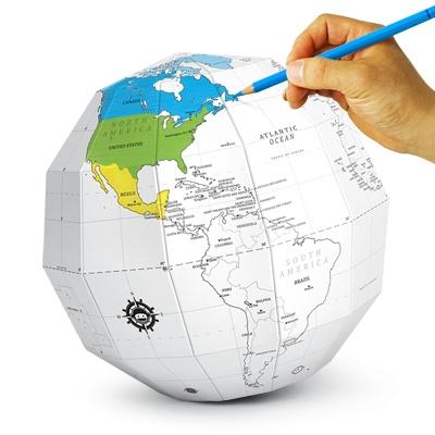 재미로 DIY 지구본 - 컬러링(화이트)