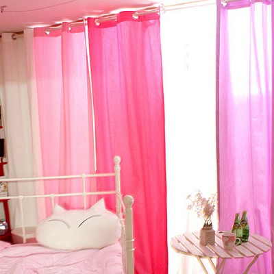 coloration metal ring curtain - real pink S(100cm*150cm)