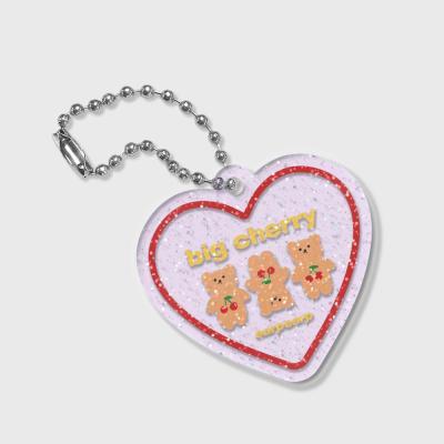 Three cherry big bear(글리터키링-퍼플)