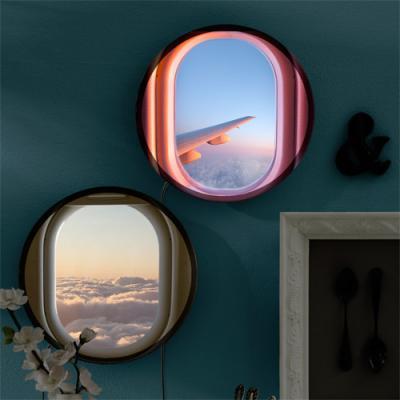 ne667-LED액자25R_비행기창문밖하늘풍경