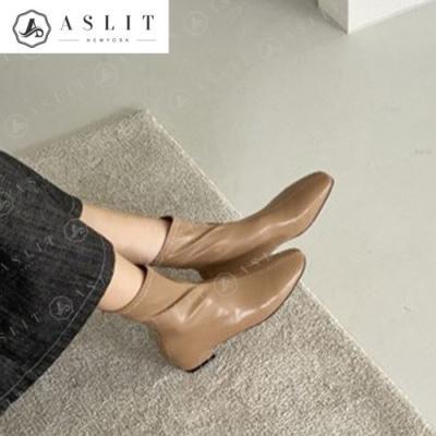 [애슬릿]여성 데일리 플랫 지퍼 스판 부츠 2.5cm