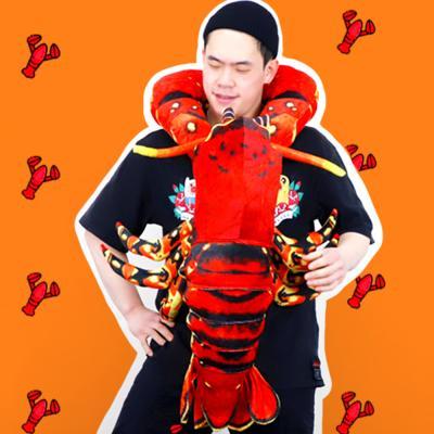 바닷가재 랍스터 인형 100cm 바디필로우 쿠션베개